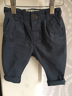 Baby Boys Blue Trousers from Next, age 3-6 Months