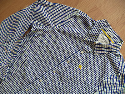 Mens Abercrombie & Fitch Shirt Long Sleeve Size L Checked Blue