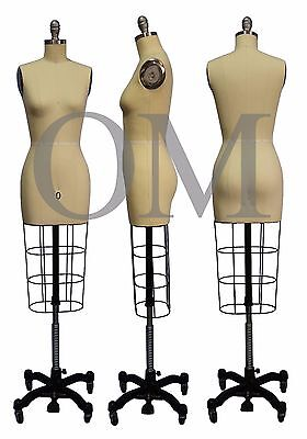 Professional Female Mannequin Dress Form, W/ Heavy Rolling Base, Size 0 (ncs 0)