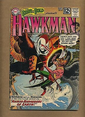Brave and the Bold 43 (Solid!) Hawkman by Kubert; more detailed origin (c#14457)