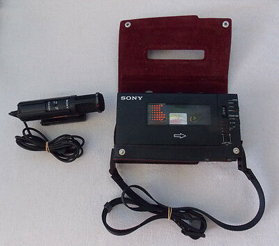 Sony Walkman WM-D6C Personal Cassette Player HAS A FAULT with Mic & Case