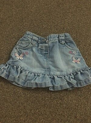 Baby Girls Denim Skirt From Next 6 To 9 Months
