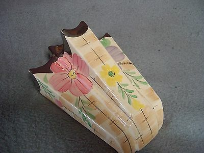 vintage arther woods pottery wall pocket