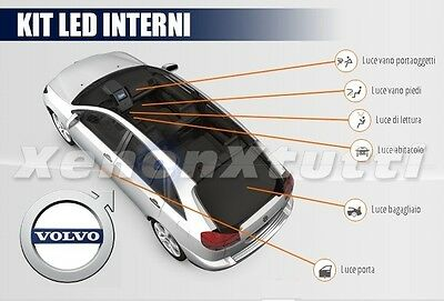 Kit Full Led Interni Volvo C30 Kit Completo 6000K 100% No Avaria Luci