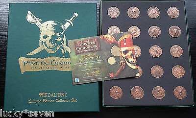 Rare Pirates Of The Caribbean Dead Man's Chest Medalionz Coins Collectors Set