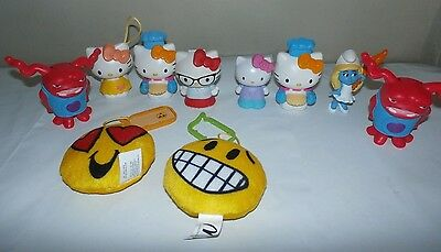 Lot of 10 McDonalds Toys Hello Kitty Emoji OH Small Collectible