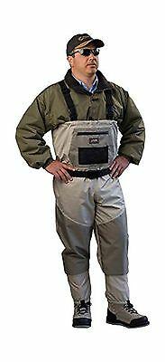 Caddis Men's Attractive 2-Tone Tauped Deluxe Breathable Stocking Foot Wader S...