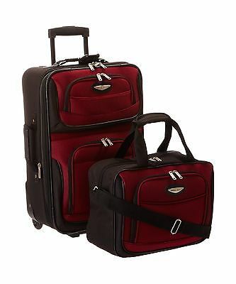 Traveler's Choice Travel Select Amsterdam Two-Piece Carry-On Luggage Set Burg...