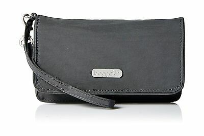 Baggallini Rfid Flap Wristlet Charcoal One Size