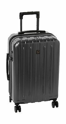 Delsey Luggage Helium Titanium Carry-On EXP Spinner Trolley Metallic Graphite