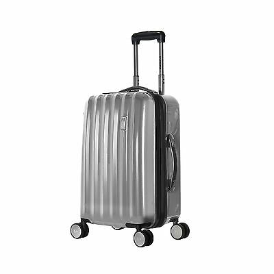 Olympia Titan 21 Inch Expandable Carry-On Hard Case Spinner Silver One Size