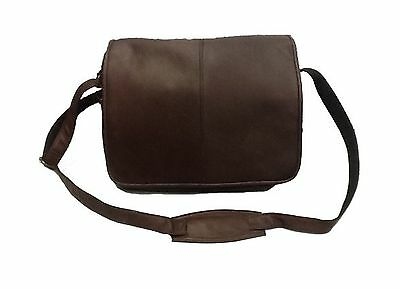 David King & Co. Flapover Messenger with Back Trolley Pocket Cafe One Size
