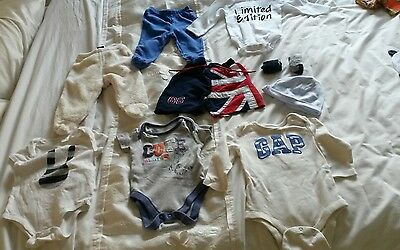 bundle of baby boys clothes age 3-6 months