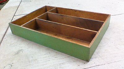 small vintage Wooden Box with dividers and finger joints NICE!