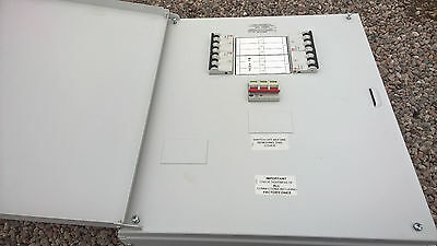 Wylex NHTN4MR 125AMP 4-Way Distribution Board loaded with 20Amp MCB's