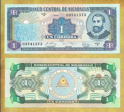 Nicaragua 1 Cordoba 1990 P-173 Serie A Unc Currency Banknote ***USA SELLER***
