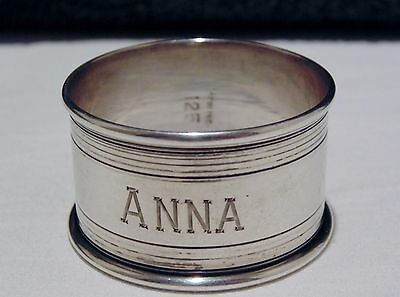 Antique Rolled Edge Sterling Silver Napkin Ring, ANNA