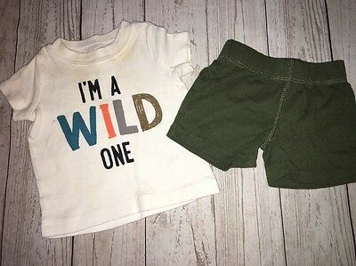 Baby Boy Carters 3 Month Outfit Summer Clothes Shirt Shorts Wild One Play