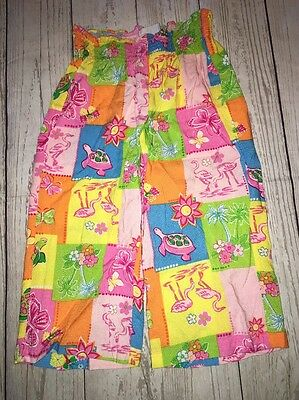 Girl Talbot Kids 3 3T Pants Patchwork Print Flamingo Tropical Pink Summer Spring