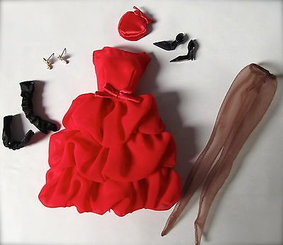 Silkstone Fashion Model Little Red Dress Barbie Outfit And Accessories Only