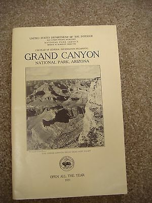 Vintage brochure of the Grand Canyon