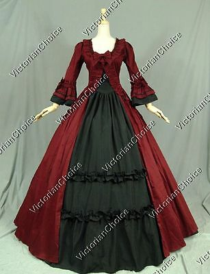 Renaissance Victorian Dress Gown Reenactment Theater Period Costume 257 S