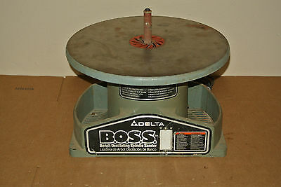 DELTA BOSS Bench Oscillating Spindle Sander 31-780 Used Working 1/4HP 1725 RPM