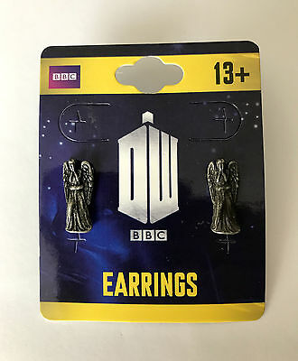 Doctor Who - Weeping Angel 3D Stud Earrings - Official Merchandise - BBC