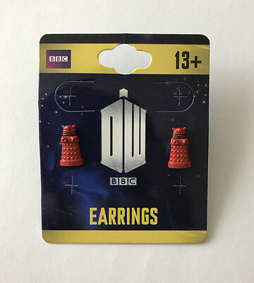 Doctor Who - Red Dalek 3D Stud Earrings - Official Merchandise - BBC