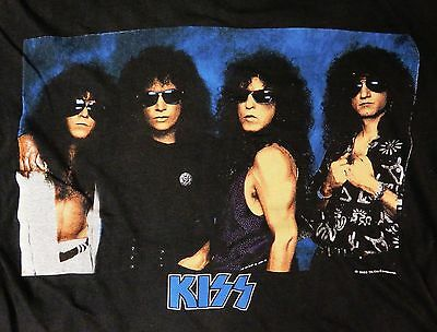 Kiss 1989 Hot In The Shade HITS Tour Concert T-Shirt XL Vintage Eric Carr Queen