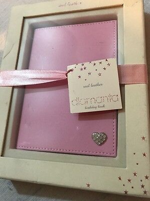 Real Leather Next Birthday Book In Pink