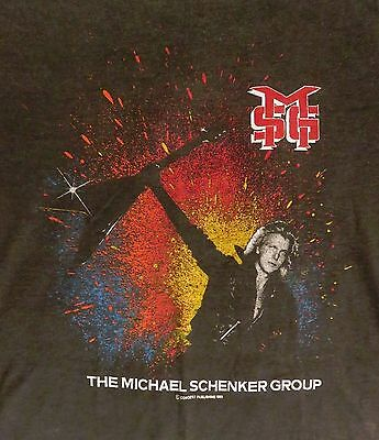 Michael Schenker Group MSG 1982 Assault Attack Tour Concert T-Shirt L Vintage
