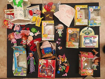 strawberry shortcake vintage dolls sets and accessories LOT SET