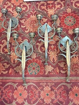 Old Spanish Revival Sconces Spanish Mediterranean Set Of Four Lights