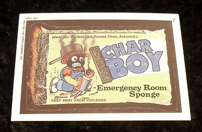 Vintage 1991 Topps WACKY PACKAGES CHAR BOY EMERGENCY ROOM Sticker / Card #7