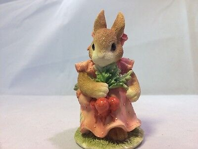"Enesco My Blushing Bunnies 1996 ""friendship Harvest Many Blessings"" #204404."