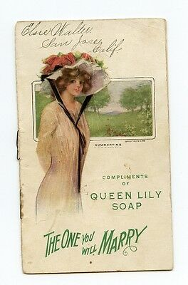 1910 Queen Lily Soap Pamphlet, The One you Will Marry, Gibson Girl