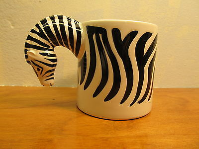 porcelain zebra coffee cup