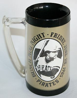Pittsburgh Pirates Baseball Night June 28 1985 Busch Beer Stein  Mug Cup