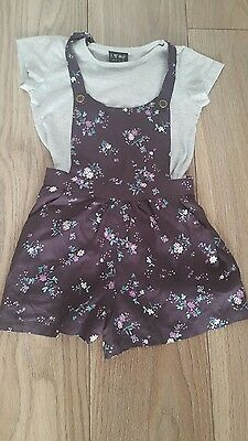 girls next dungaree short culotte outfit size age 5 years