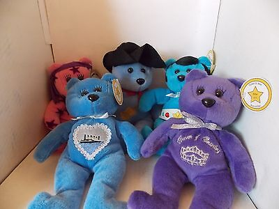 5 Celebrity Bears #s 3 Garth Brooks, 6 Elvis, 16, 18Celine Dion, 26 Cher