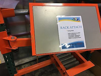 "RACK ATTACH- Adjustable Swing Table For Pallet Shelving 24'X16"" NEW"