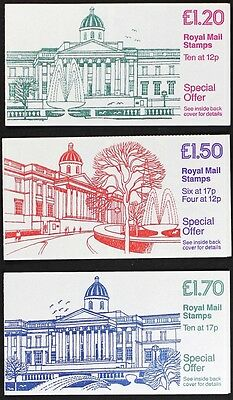 """Lot #LT257 GREAT BRITAIN National Gallery 3 booklets """"B"""", selvedege on Right FJ5"""