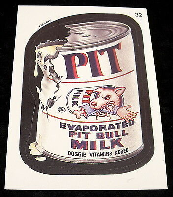 Vintage 1991 Topps WACKY PACKAGES PET PIT EVAPORATED MILK Sticker Card #32