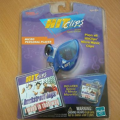 2002 Tiger Hit Clips Micro Music System Player WITH Backstreet Boys Clip HTF NOS