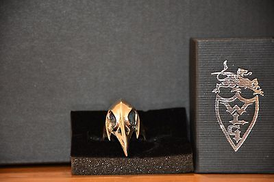 Metal Couture Bird Skull Ring - Made by William L. Griffith