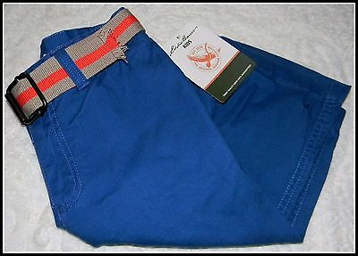 Eddie Bauer Nantucket Boys Blue Belted Shorts Size (14) NWT!
