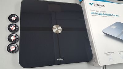 WITHINGS SMART BODY+ ANALYZER BLACK Wi-Fi SCALE HEALTH TRACKER WS-50 NEW NIB!!!