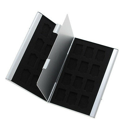 Pop Aluminum Memory Card Storage Box Cover Box Holder For Micro SD Card 24TF