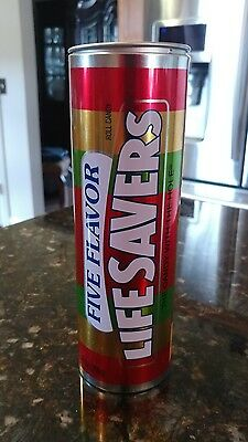 Life Saver 5 Flavor Assortment Collectable Tin Candy Gift Can (Empty)